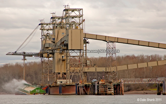 Grain Elevators and Barge - Willamette River